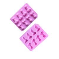 Funny Candy Moule Epoxy Résine Silicone Deux Couleurs Cuagueware Glace Glace Moule de gelée Biscuit de chocolat Tools de cuisson à la chaude 2 9xw L2