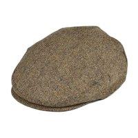 Botvela 100% Yün Düz Kap Erkekler için Kadın Kaçalca Kapaklar Herringbone Newsboy Haki Ivy Şapka Cabbies Sürücü Beret Boina 002 201216