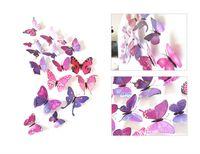 3D simulazione farfalla frigo magneti domestici animali in PVC Bambini camere da parete adesivi murali spilla di nozze accessori per capelli ornamento 1 6DJ M2