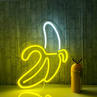 Banana Dream Hello Neon Signe LED Art Art Mur Magasin Lumière USB Powered for Bedroom Party Decor Fenêtre Décoration Nuit Lampes de Noël Cadeau de Noël