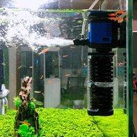 3 Em 1 submersível aquário filtro filtro silencioso Sunsun aquário bomba de água interna de onda Criador esponja do filtro do ar Bomba 220V C1115