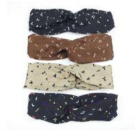 Design Stirnbandkopfschals für Frauen Seidenkreuz Haarband mit elastischen 4 Farben Turban Bandnas Stirnbänder