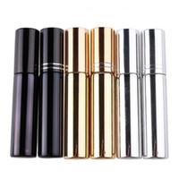Atomiseur de placage UV 10 ml Mini bouteille de parfum de parfum portable rechargeable échantillon échantillon conteneurs vides or argent noir couleur DHD3168