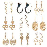 Schlange Ohrringe für Frauen Charme Baumeln Ohrring Klassische Anhänger Schlange Lange Welle Tropfenreifen Ohrringe Animal Serpentine Vintage Schmuck Geschenk