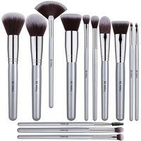 BS-Mall 13 Pennello per il trucco Set Set di spazzola sintetica di alta qualità Silver Foundation Blooming Blush Blush Brush Brush Penny Set