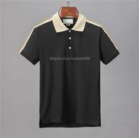 Diseñador polo camisas hombres casual polo camiseta impresión bordado moda europa paris de alta calle altura sólido color hombre polos abrigo algodón m-3xl