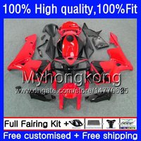 100% Fit For HONDA CBR600F5 CBR600 RR CBR600RR 05 48HM.237 CBR 600RR Red black CBR 600 CC RR 600CC F5 05 06 2005 2006 Injection Fairings