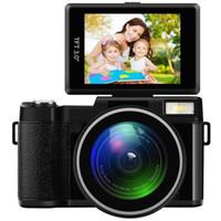 24MP Full HD 1080P 4X Digital Zoom Telecamera 180 gradi Rotativa 3,0 pollici schermo LCD Video Vlog fotocamera Torcia videocamera Y1120