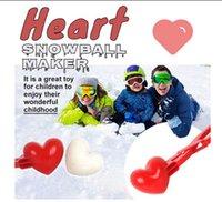 Heart Snowball Maker Kids Niños al aire libre Outdoor Snowball Arena Mod Juguetes Lucha Deportes Juegos al aire libre Arena Molde herramienta Envío gratis