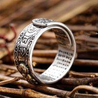 Encantos Feng Shui PIXIU Mujeres amuleto Riqueza Suerte abierto ajustable joyería anillo de los hombres budista anillos unisex