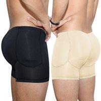 الرجال بعقب رافع ملابس داخلية المشكل السيطرة الورك منصات محسن التخسيس السراويل داخلية الملاكم موجز مبطن buttlifter الفخذ غمد