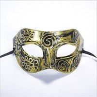 Retro Griekse Adam Romeinse Mannen Masker Savaşçı Prins Maskeliyeler Venetiaanse Masterade Parti Yarı GezichtsSasker Kerstmis Nieuwjaar