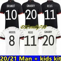 2020 German Soccer Jersey National Team Man 여성 키트 Gnabry Werner Havertz Football Jersey Deutscher Sane Kroos Reus