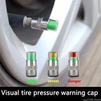 4pieces 1Set Reifendruckmonitor-Druckmesskappen-Sensoranzeiger-Alarmüberwachungsventil Stiel Cap Tools Kit