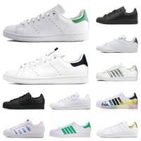 Adidas Stan Smith Superstar Superstars  Casual Designer Sapatos Homens Mulheres Triple Branco Black Zebra Mulheres Homens Treinadores Esportivos Sapatilhas