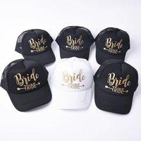 Bride Tribe Snapback Trucker Mesh Hat Gold Letters Arrow Wedding Baseball Cap1