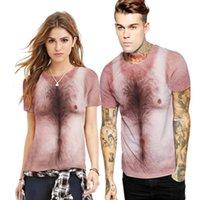 Moda Hip Hop Polyester 3D T Gömlek Erkekler Kadınlar T-shirt Komik Baskı Göğüs Saç Kas Tees Yaz Erkek Kadın Tişörtleri 3D Baskı Kalitesi