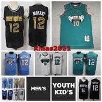 2021 Мужские Молодежные Дети 12 Ja Morant Swingman Джерси Гризлис Ретро Классический Сшитый 10 Майк Бибби Митчелл Несс Молодежный Баскетбол Джерси