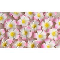 100 stücke 7cm großhandel plumeria hawaiian foam frangipani blume für hochzeitsparty hair clip blume bou jlllbf essen