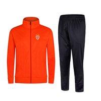 2021 Ассоциация Sportive de Monaco Новый стиль футбольный мужской куртка с брюками спортивная одежда футбольный трексуит взрослых детей одежда