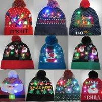New Christmas Led Light Hat Beatie Berretto maglia maglione caldo autunno inverno inverno cappello caldo festa regalo per bambini e adulti1