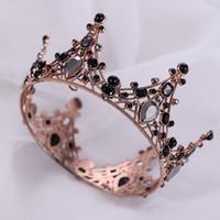الذهب الأميرة أغطية الرأس أنيقة الزفاف تياراس اكسسوارات مذهلة بلورات اللؤلؤ الزفاف تياراس ووجود 1207