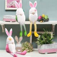 Bunny di Pasqua a gambe lunghe coniglietto Gnome Decorazione Pasqua Pasqua coniglio Bambola Nordico Swedish Scandinavo Dwarf Home Ornament