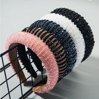 Volledige Crystal Luxe Haaraccessoires Haarbanden Sparkly Gewatteerde Steentjes Hoofdbanden Hoofdtooi Zwart Wit Roze Vrouwen Hoofdband