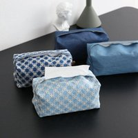 Tissu Tissu Coffret Couverture Dessin de bande dessinée Mignon Porte-serviettes de pompage Coffret de couverture de serviette pour voiture Cuisine Car toilette Tissu Conteneur