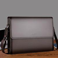 مصمم أزياء فاخر بسيط أزياء رجال الأعمال حقيبة حقيبة جلدية حقيبة كمبيوتر محمول عارضة رجل حقيبة الكتف