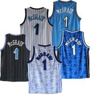 HomensOrlandoMagic Tracy McGrady jerseys de basquete para os principais jogadores; o homem do balanço costurado e bordadoNBA.jerseys.