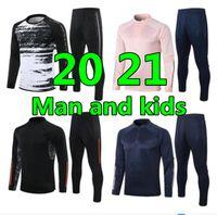2020 21 Yeni Adam Ve Çocuklar Futbol Eşofman Futbol Eğitim Suit Kitleri 20 21 Survêtement de Futbol Eşofmanlar Koşu Chandal Futbol