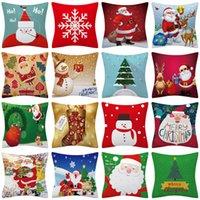 45 * 45 سادات عيد الميلاد سانتا كلوز مكتب وسادة أفخم الأيائل مربع الخصر رمي الوسائد حالة أريكة وسادة غطاء ديكور المنزل