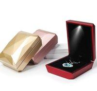 البيانو مطلية مجوهرات مربع أدى اقتراح حلقة مجوهرات قلادة مجوهرات مربع هدية عيد الحب هدية التفاف 4 ألوان