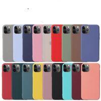 Özel Logo Şeker Renk Mat Yumuşak TPU Cep Telefonu Kılıfı Silikon Darbeye Dayanıklı Arka Kapak iphone 12 Mini 11 Pro x XS Max XR 7 8 Artı SE DHL