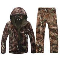 Giacche da uomo Giacche da uomo esercito impermeabile caldo camo vestiti a vento giacca in pile giacca giacca bracciale tattico ingranaggio tattico softshell camouflage