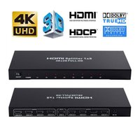 4 K 1x8 Splitter 1 8 Out Powered 8way Splitter Ses Video Distribütörü Şarj Cihazı Destek Full HD 3D