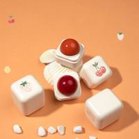Jordgubbe snö päron körsbär fuktkräm läpp balm söt smak läpp balm färg byte läppstift lipgloss vinter läpp fläck