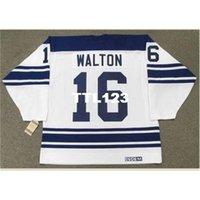 888s # 16 Mike Walton Toronto Maple Leafs 1967 CCM Vintage Uzakta Hokey Forması veya Özel Herhangi bir isim veya numara Retro Jersey
