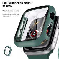 Custodia protettiva per Apple Watch IWatch Series 6 5 4 3 2 1 con coperchio antiurto in vetro temperato