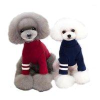Glorious Kek outono / inverno cachorro camiseta engrossar roupas quentes roupas de cão 100% algodão alto pescoço de mangas compridas casaco de cachorro camiseta aparel1