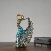 Dancer Peacock Decoration، Clical Beauty الحرف الراتنج الديكور، اكسسوارات المنزل ديكورات غرفة الزفاف