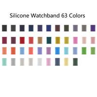 63 Couleurs Silicone Watchband Bandes de montre Sport Bandes de remplacement Bandes de rechange Iwatch Accessoires pour Apple Watch Series 6 5 4 3 2