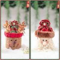 Natal caixa de doces de alta qualidade xmas presente sacos de natal biscoitos biscoito saco de doces festa decoração presente festa favor o fornece suprimentos