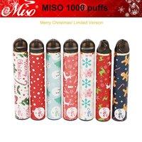 100% MISO Authentic 1000 Puffs descartável Vape 650mAh Battery vaporizador E-cigs Kit pk Maskking Pro Puff Bar Além disso bang XXL POSH XL