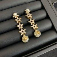여성용 길이 및 짧은 크리스탈 귀걸이 쥬얼리에 적합한 패션 디자인 D 편지 Tassel 귀걸이