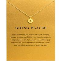 Neue North Star Compass Choker Halsketten Gold Silber mit Karten Anhänger Halskette Für Mode Frauen Schmuck Go De Location
