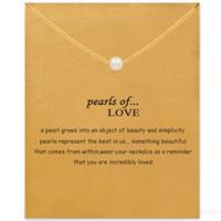 Gerdanlık kolye kart ile altın gümüş inci kolye kolye moda kadınlar takı inciler için aşk