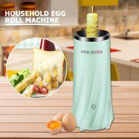 Máquina de rolo de aço inoxidável portátil Máquina doméstica automática de sanduíche de ovo de ouro café da manhã omelette steamer para kitchen1