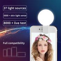 Charge USB Charge LED Selfie Ring Light ل iPhone الإضاءة التكميلية Selfie تعزيز ضوء ملء للهواتف Samsung المحمولة كليب مصباح